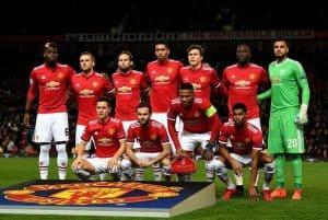 Manchester United soccer team 2018