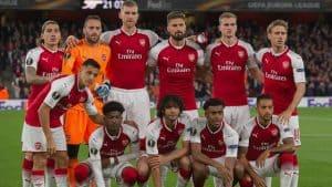 arsenal FC soccer team 2018