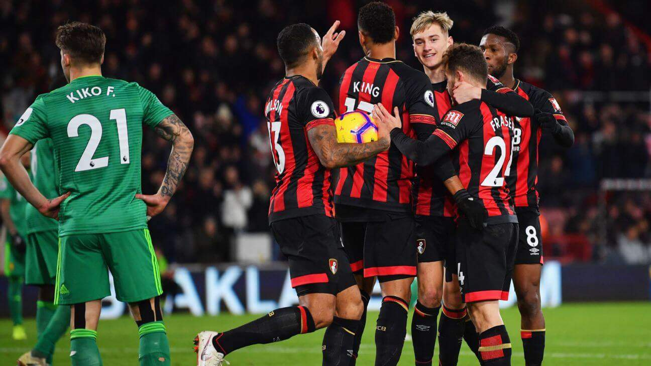 afc bournemouth fc soccer team 2019