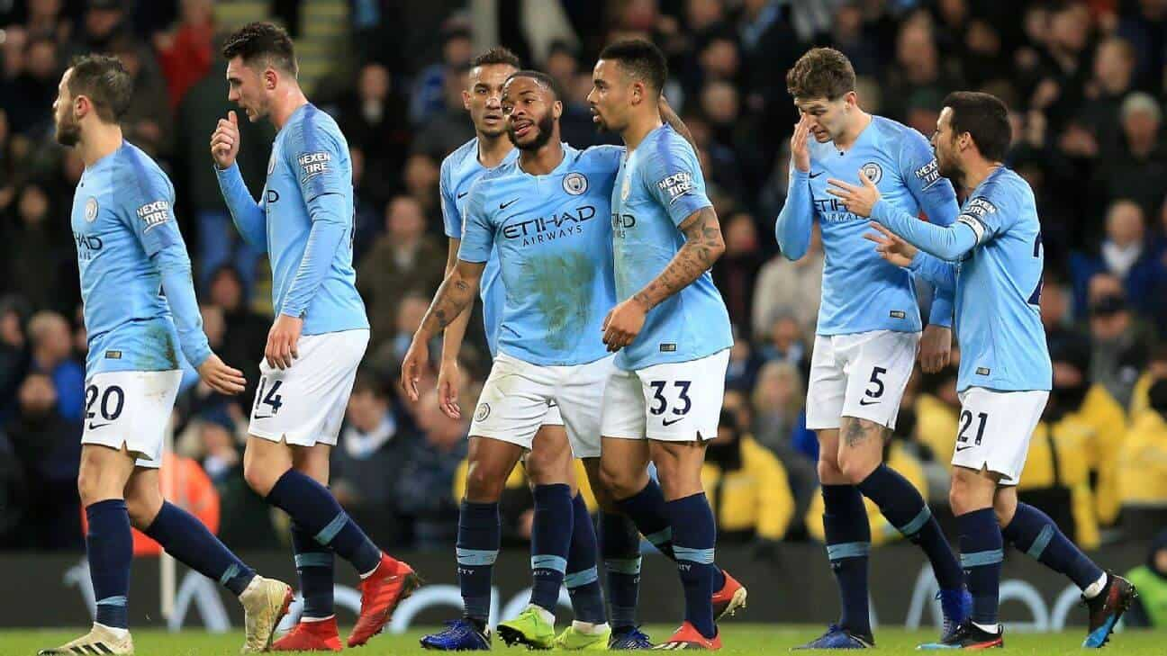 manchester city fc soccer team 2019