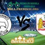 Prediksi Skor Derby County FC Vs Bristol City FC 21 Agustus 2019