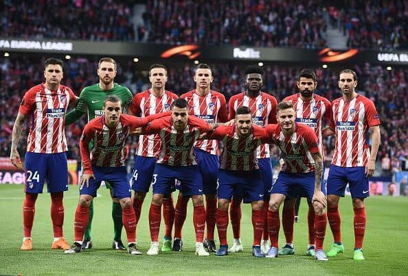 ATLETICO MADRID football team 2019